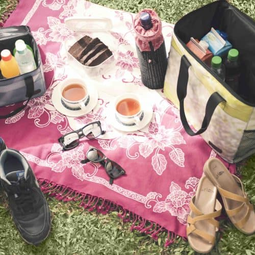 XSProject canteen with picnic box on rug
