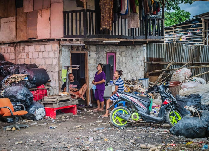 Homes in the dump at Cirendeu, Jakarta