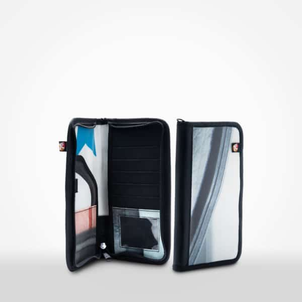 Travel Wallet by XSProject made from recycled billboards