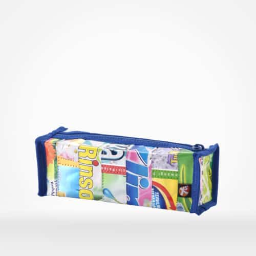 Pencil case by XSProject made from recycled plastic pouches
