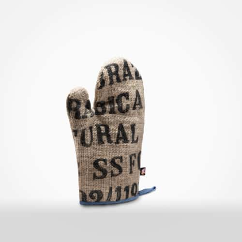 Oven mitt by XSProject made from recycled coffee sacks