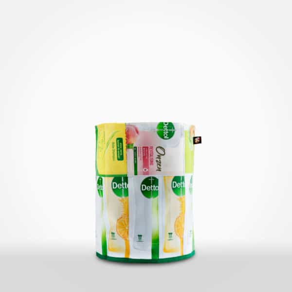 Rubbish Bin by XSProject made from recycled plastic pouches