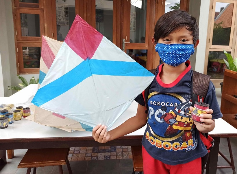 playing with kites